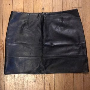ASOS black leather mini skirt